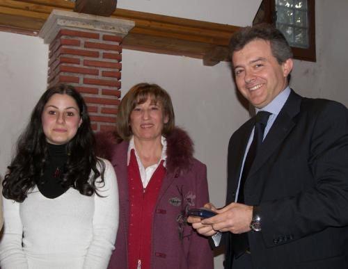 Veronica Rutigliano, un'insegnante e Marco De Carolis