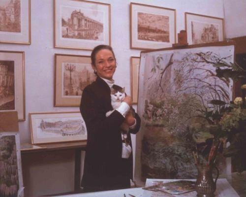 Niké Arrighi Borghese nel suo studio (foto Moreno Maggi)