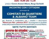 Albano – Incontro con i cittadini