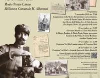 """Monte Porzio – Mostra Documentaria """"La Grande Guerra: Memorie di una comunità"""""""