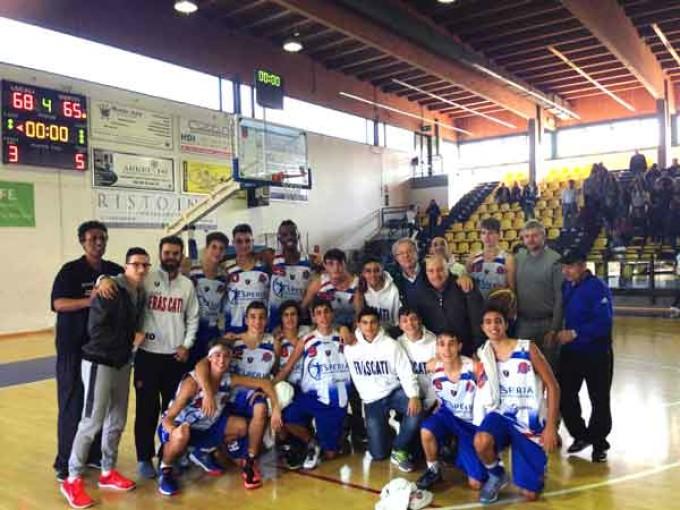 Basket Frascati, l'Under 16 manda al tappeto i campioni d'Italia