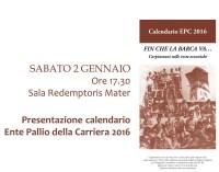 Carpineto Romano – Presentazione del Calendario dell'Ente Pallio della Carriera 2016