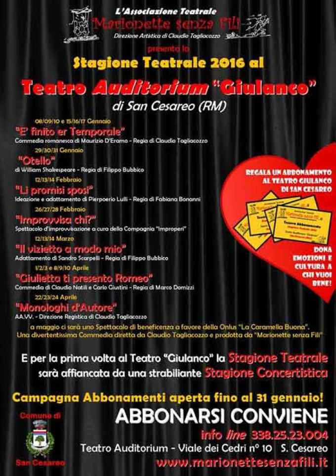 """""""Marionette Senza Fili"""" – Apertura della stagione teatrale 2015"""