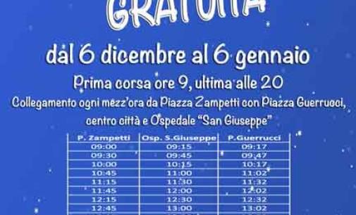 Albano, torna la navetta natalizia gratuita