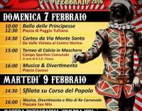 Il Carnevale a Grottaferrata si festeggia il 7 e il 9 febbraio
