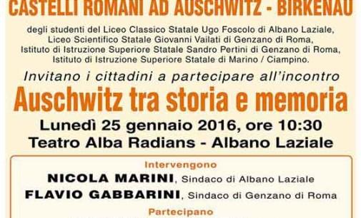 "Ad Albano l'iniziativa ""Auschwitz tra storia e memoria"""