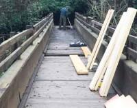 Riparato il ponte sul Treja sotto Calcata