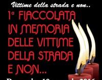 """Albano, """"1^ Fiaccolata in memoria delle vittime della strada e non"""""""