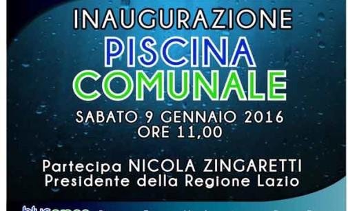 Rocca Priora, Sabato 9 gennaio l'inaugurazione della nuova piscina comunale