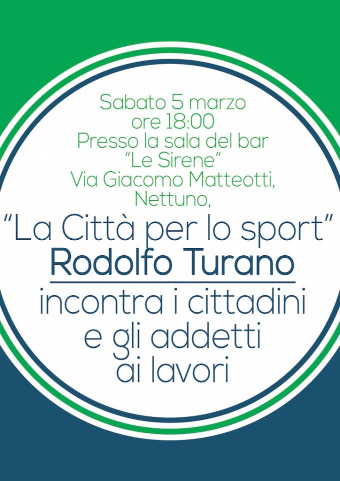 Nettuno, la Città per lo sport: Rodolfo Turano incontra cittadini e associazioni sportive del territorio