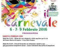 Al via il Carnevale di Lanuvio: ecco il programma