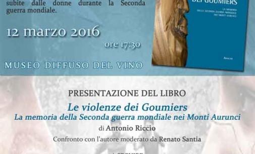 """Presentazione del libro di Antonio Riccio """"Le violenze dei Goumiers. La memoria della seconda guerra mondiale nei Monti Aurunci"""""""