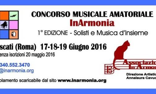 """Concorso Nazionale Musicale per Amatori """"Inarmonia"""""""