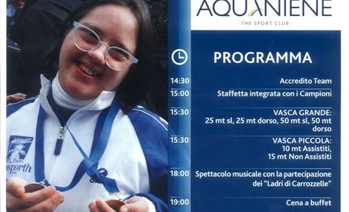 Meeting Aquaniene 2016  La Festa dell'Integrazione e dell'Amicizia Sportiva