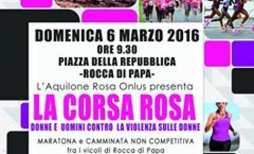 """La """"Corsa rosa"""", una manifestazione sportiva  contro la violenza sulle donne"""