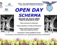 GRANDE OPEN DAY – LAZIO SCHERMA ARICCIA A PORTE APERTE