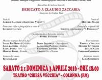 Week-end al Teatro della Chiesa veccha di Colonna