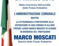 Albano, commemorazione Marco Moscati