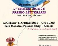 """Ariccia – Concorso letterario """"Natale De Grazia"""""""
