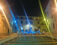 A Valmontone – Oggi la Fontana si colora di BLU