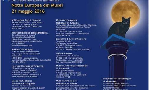 Notte europea dei musei 21 maggio 2016