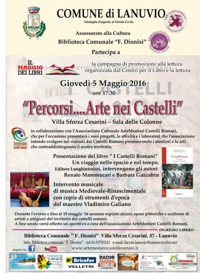 Lanuvio – il 5 maggio in biblioteca 'percorsi…arte nei Castelli'