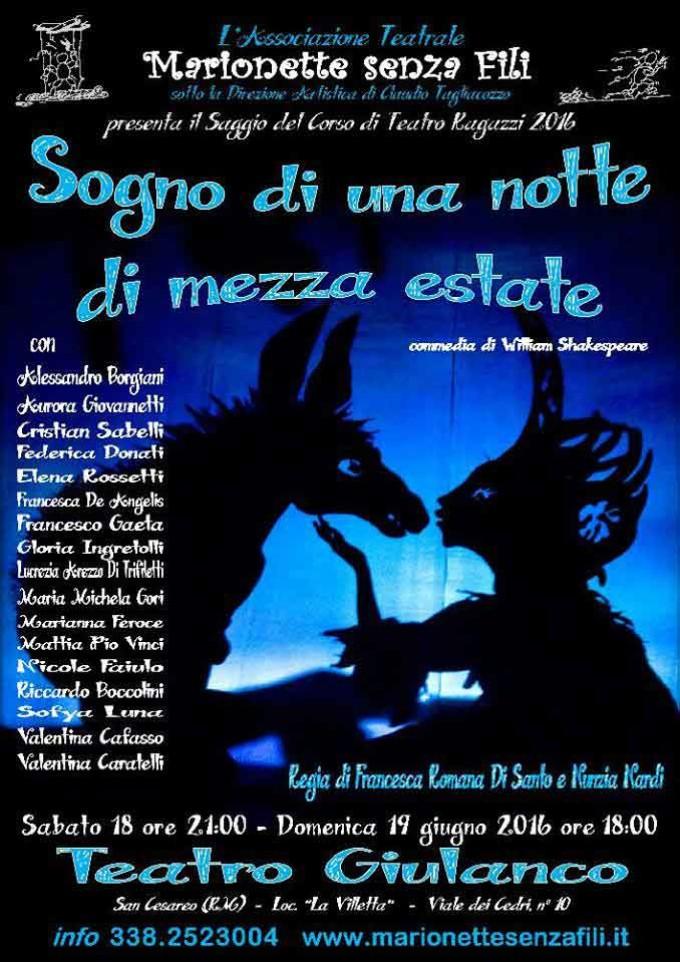 """Marionette Senza Fili"""" presenta il saggio del corso di Teatro Ragazzi"""