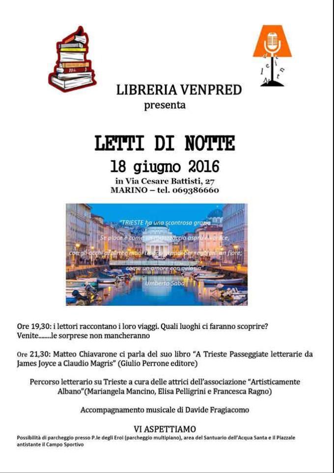 Marino: torna la rassegna Letti di Notte 2016