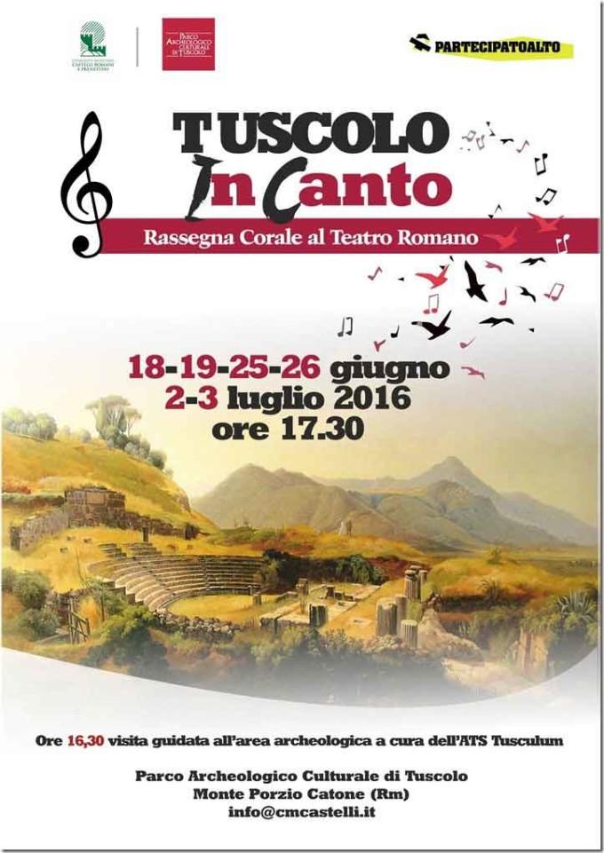 I cori del territorio si esibiscono al Teatro Romano di Tuscolo