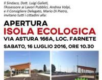 Lanuvio – Apertura Isola Ecologica