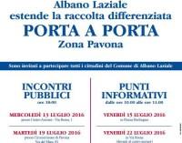 """Albano, il programma degli incontri su """"porta a porta"""" ed """"Ecopunti"""""""