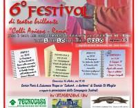 """6° Festival di Teatro Brillante e Amatoriale """"Colli Aniene – Roma"""""""