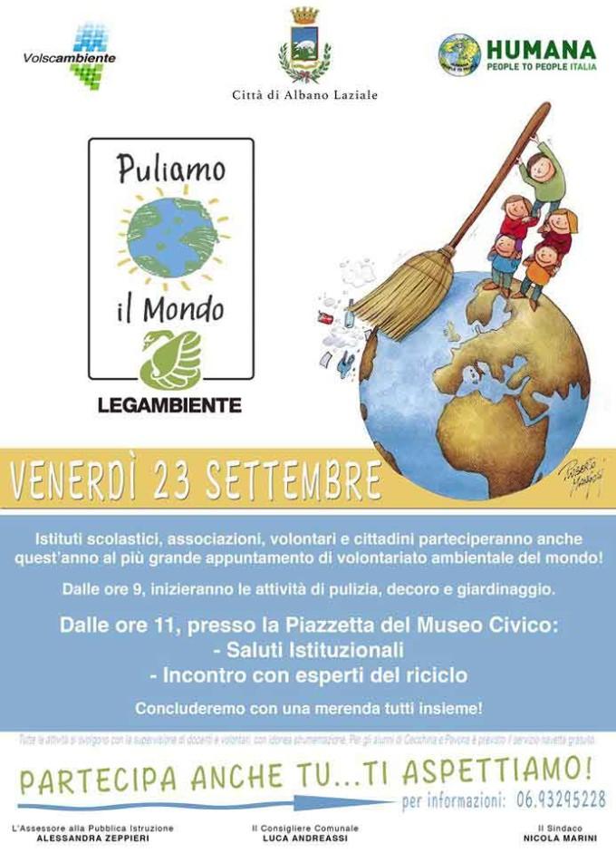"""Albano, domani torna """"Puliamo il Mondo"""""""