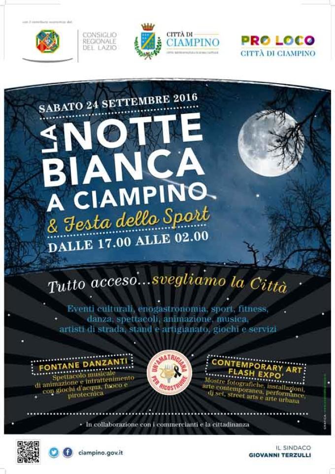 Torna la Notte bianca a Ciampino