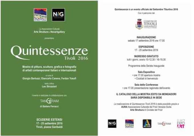 Quintessenze 2016 ItaliArts Artisti contemporanei a Tivoli