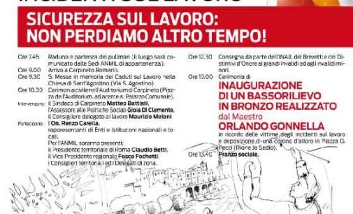 Carpineto – 66° Giornata Nazionale per le Vittime degli Incidenti sul Lavoro