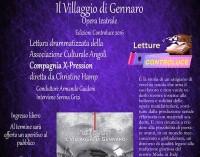 """I """"Venerdì culturali"""" di Controluce – Il Villaggio di Gennaro"""