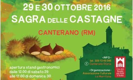 Castagne, piatti tipici e un grande falò: così fa festa il borgo di Canterano