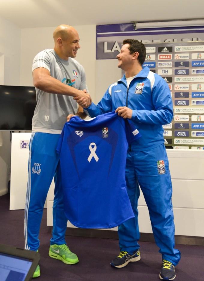 Lirfl, Parisse ha ricevuto la maglia della Nazionale di rugby a 13. Domenica il test match con BARA