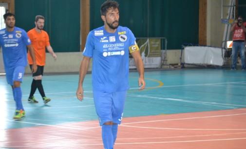 """Todis Lido di Ostia Futsal (serie B), pari con la Mirafin con """"saluto"""" al capitano De Santis"""