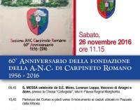 60° Anniversario ( 1956-2016 ) dell'Associazione Nazionale Carabinieri di Carpineto Romano