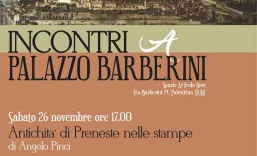 """Palestrina – """"Incontri a Palazzo Barberini"""""""