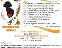 Genzano – Giornata Internazionale per l'eliminazione della violenza contro le donne