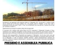 S.Maria delle Mole assemblea pubblica contro la cementificazione