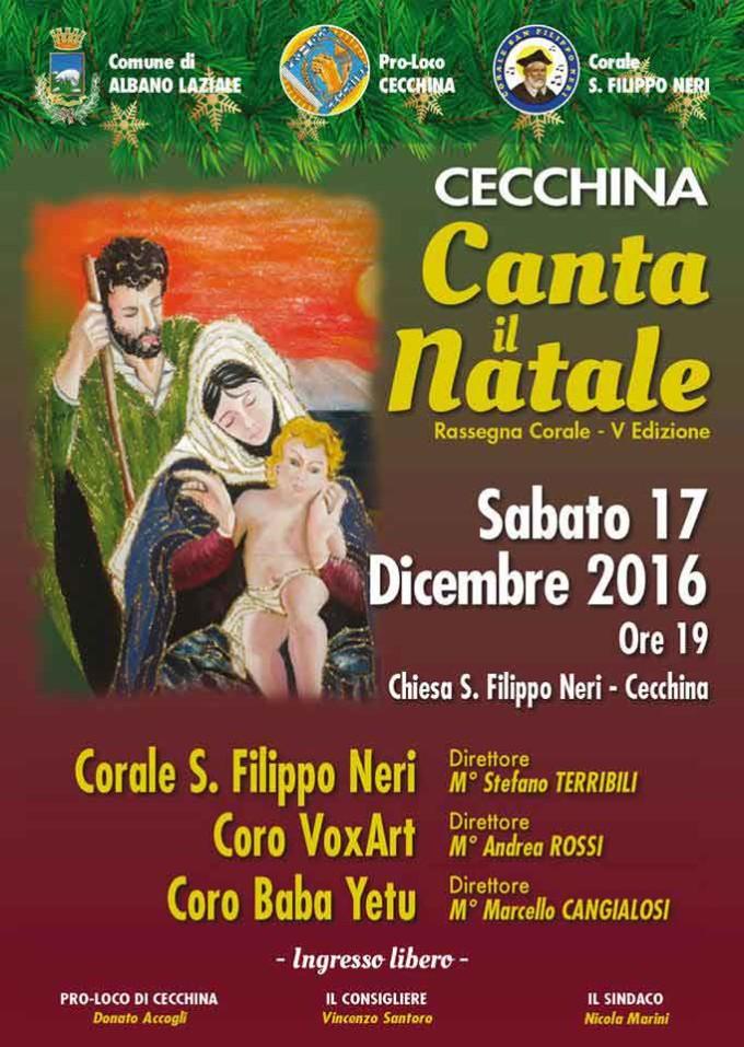 """Albano, torna """"Cecchina canta il Natale"""""""