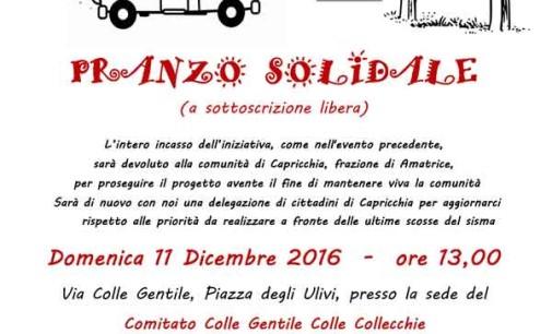 Zagarolo – Bentornati a Capricchia pranzo solidale a sottoscrizione libera