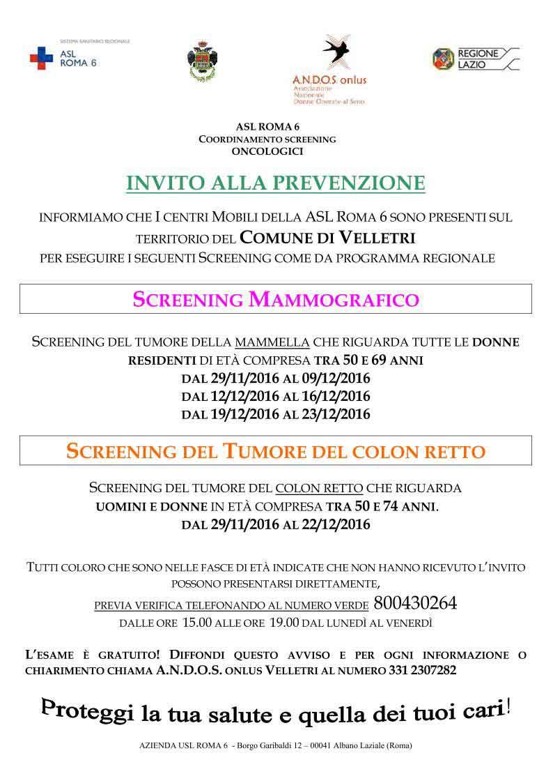 Giovannetti Mobili Roma Lazio velletri – screening mammografico | notizie in controluce