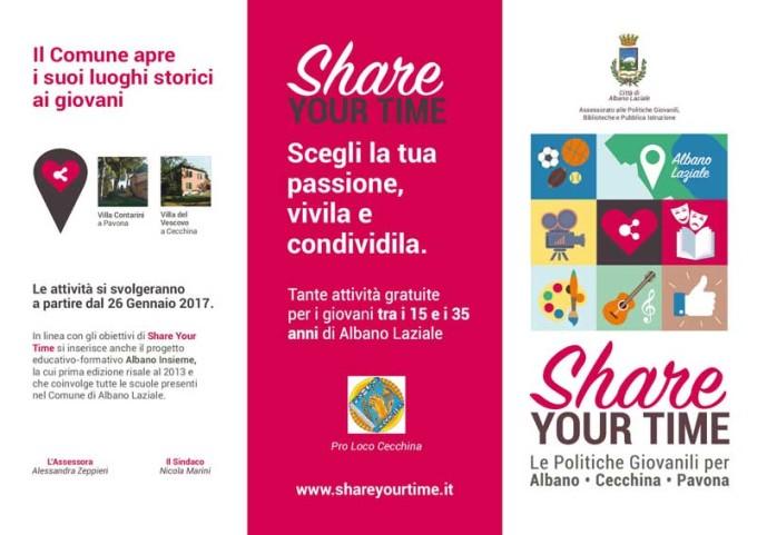 """Albano Laziale, parte la seconda edizione di """"Share Your Time"""""""