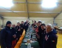Volontari del gruppo comunale di protezione civile di Genzano in servizio ad Amatrice