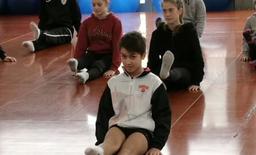 Federico Guidi nella selezione regionale d'aerobica